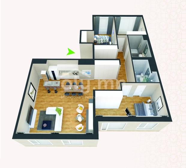 ID 269, Khoroo 4 байршилд for rent зарын residential Apartment төсөл 1