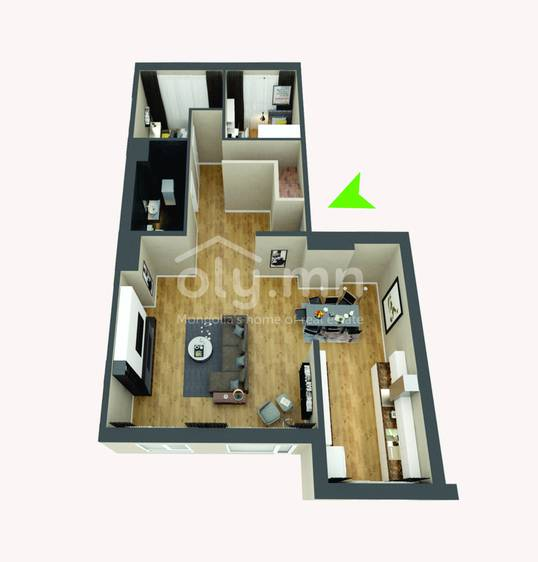 ID 277, Khoroo 4 байршилд for rent зарын residential Apartment төсөл 1