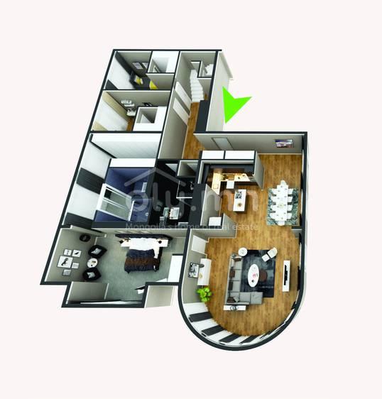 ID 278, Khoroo 4 байршилд for rent зарын residential Apartment төсөл 1