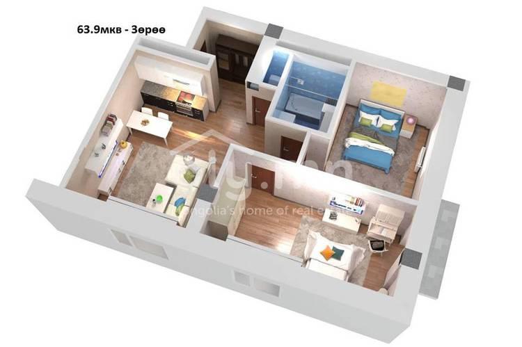 ID 215, Khoroo 16 байршилд for sale зарын residential Apartment төсөл 1