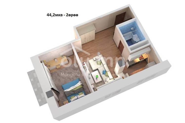 ID 216, Khoroo 16 байршилд for sale зарын residential Apartment төсөл 1
