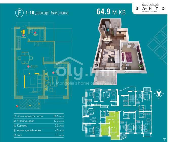 ID 467, Khoroo 26 байршилд for sale зарын residential Apartment төсөл 1