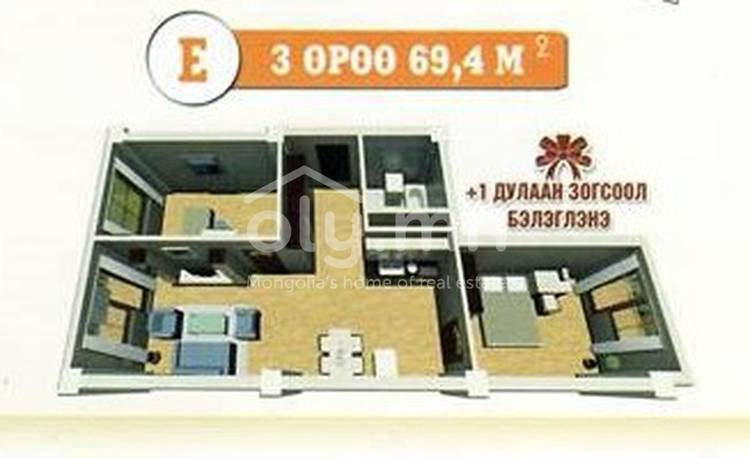 ID 456, Khoroo 19 байршилд for sale зарын residential Apartment төсөл 1