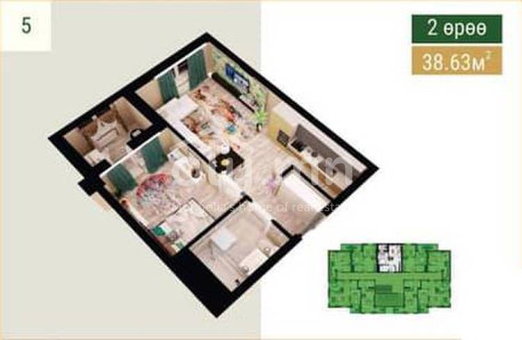 ID 434, Khoroo 27 байршилд for sale зарын residential Apartment төсөл 1