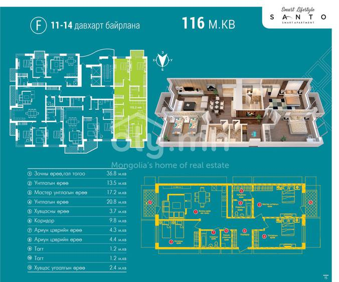 ID 471, Khoroo 26 байршилд for sale зарын residential Apartment төсөл 1