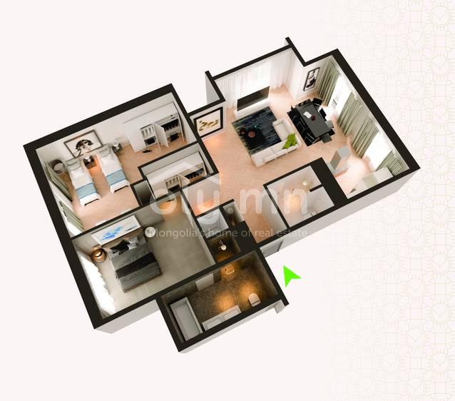 ID 253, Khoroo 4 байршилд for rent зарын residential Apartment төсөл 1