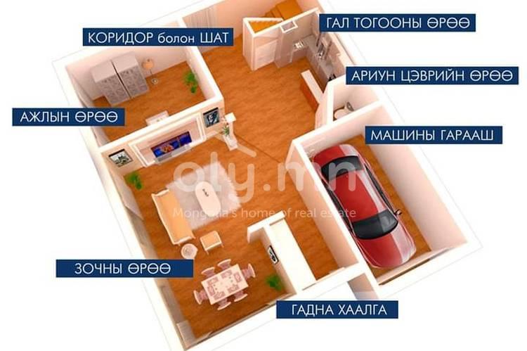 ID 401, Khoroo 4 байршилд for sale зарын residential House төсөл 1