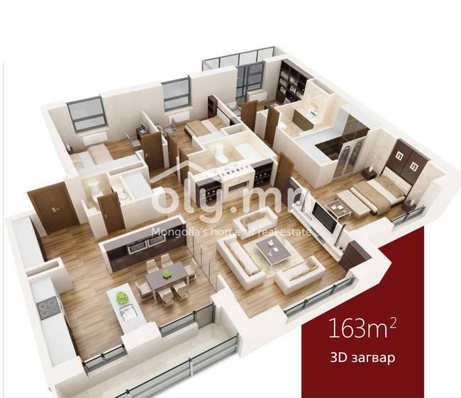ID 360, Khoroo 11 байршилд for sale зарын residential Apartment төсөл 1