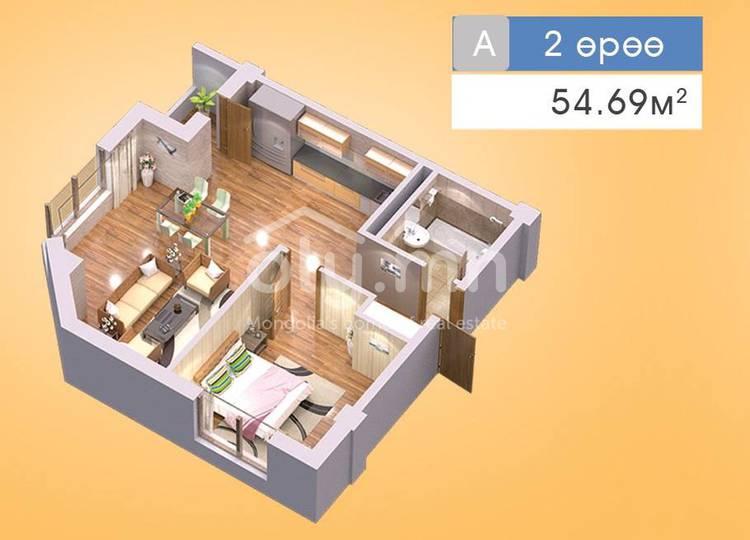 ID 200, Khoroo 22 байршилд for sale зарын residential Apartment төсөл 1