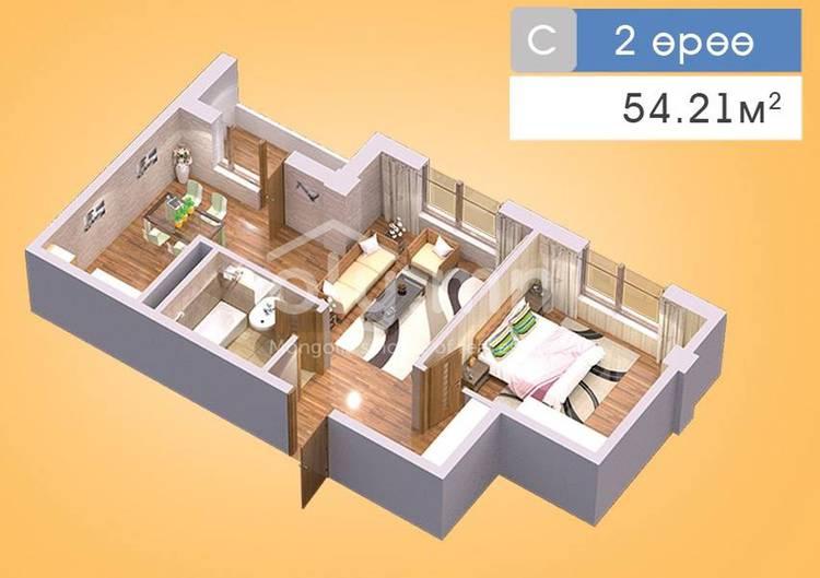 ID 202, Khoroo 22 байршилд for sale зарын residential Apartment төсөл 1