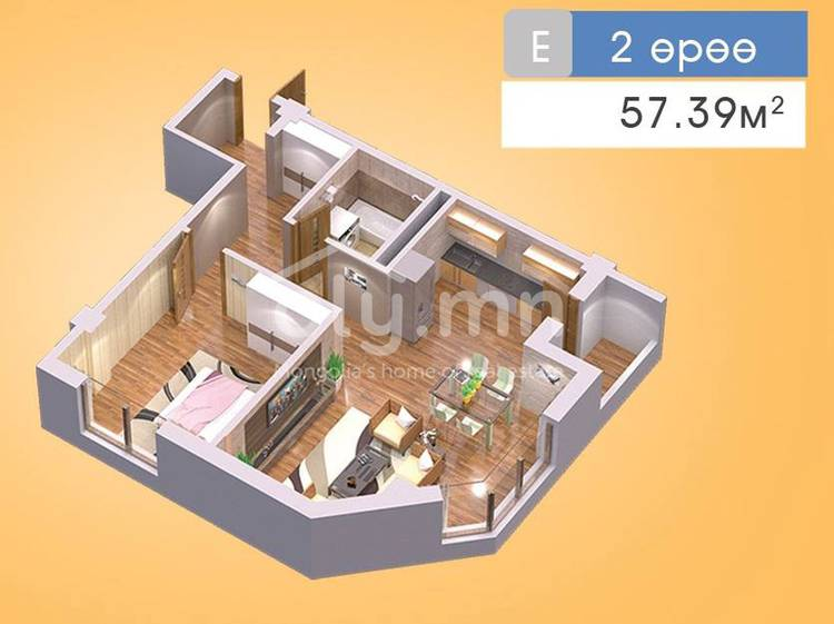 ID 204, Khoroo 22 байршилд for sale зарын residential Apartment төсөл 1