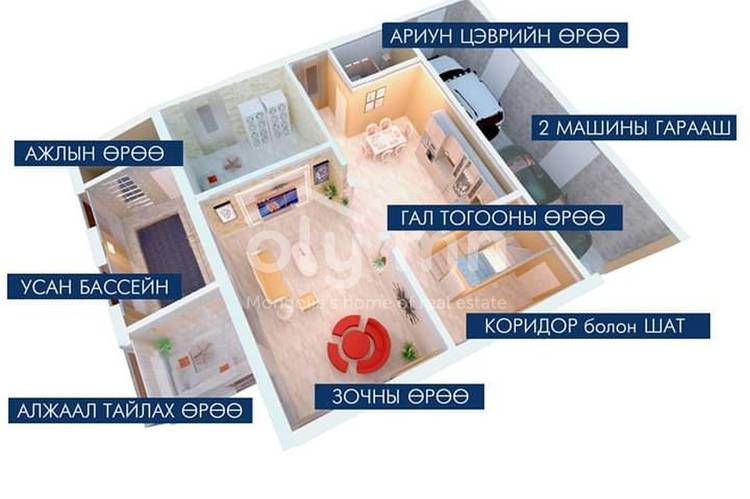 ID 402, Khoroo 4 байршилд for sale зарын residential House төсөл 1