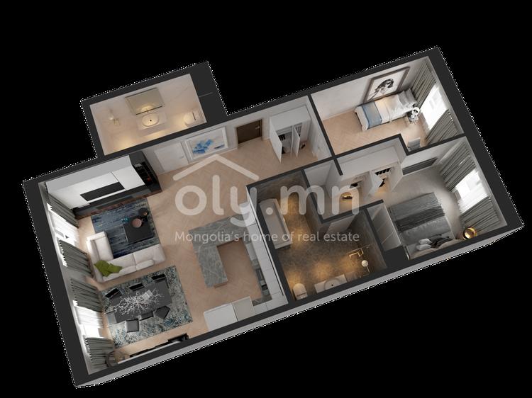 ID 255, Khoroo 4 байршилд for rent зарын residential Apartment төсөл 1