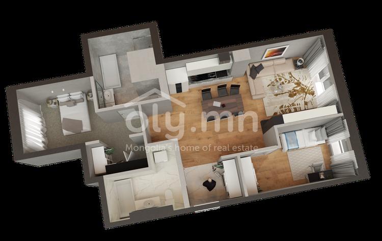ID 259, Khoroo 4 байршилд for rent зарын residential Apartment төсөл 1