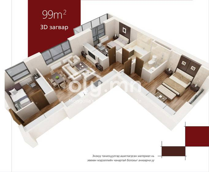 ID 357, Khoroo 11 байршилд for sale зарын residential Apartment төсөл 1