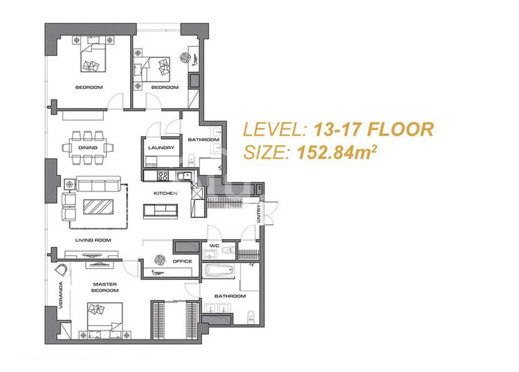 ID 285, Khoroo 26 байршилд for sale зарын residential Apartment төсөл 1