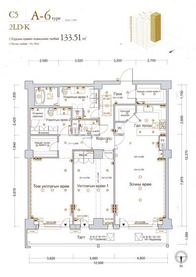 ID 143, Khoroo 15 байршилд for rent зарын residential Apartment төсөл 1