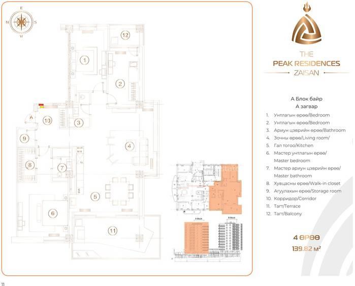 ID 195, Khoroo 11 байршилд for sale зарын residential Apartment төсөл 1