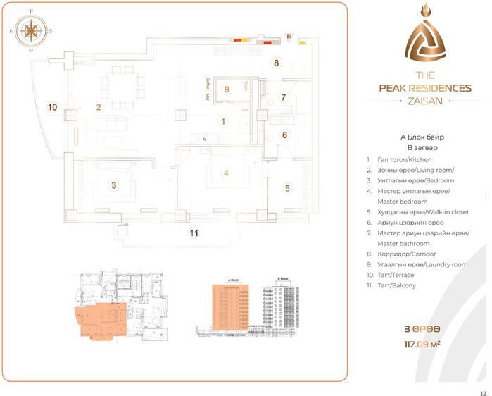 ID 196, Khoroo 11 байршилд for sale зарын residential Apartment төсөл 1