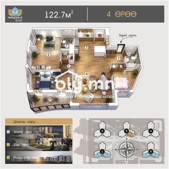 ID 996, Khoroo 4 байршилд for sale зарын residential Apartment төсөл 1