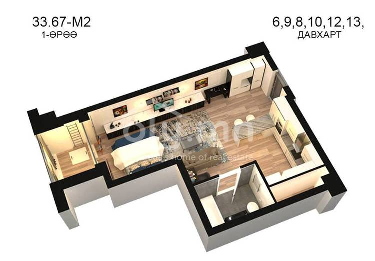ID 784, Khoroo 14 байршилд for sale зарын residential Apartment төсөл 1