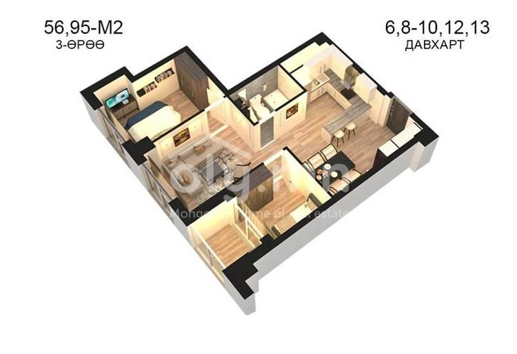 ID 792, Khoroo 14 байршилд for sale зарын residential Apartment төсөл 1