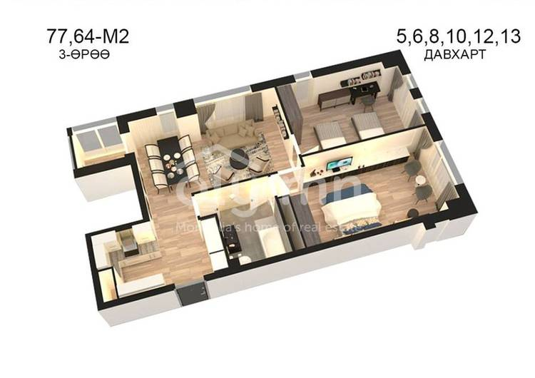 ID 815, Khoroo 14 байршилд for sale зарын residential Apartment төсөл 1