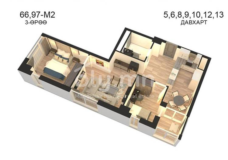 ID 802, Khoroo 14 байршилд for sale зарын residential Apartment төсөл 1