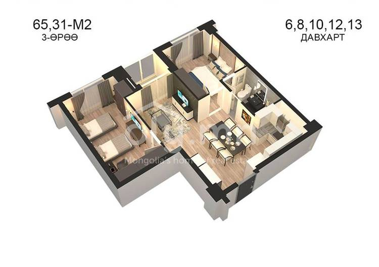 ID 800, Khoroo 14 байршилд for sale зарын residential Apartment төсөл 1