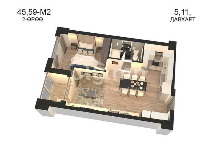 ID 791, Khoroo 14 байршилд for sale зарын residential Apartment төсөл 1