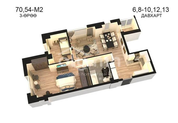 ID 809, Khoroo 14 байршилд for sale зарын residential Apartment төсөл 1