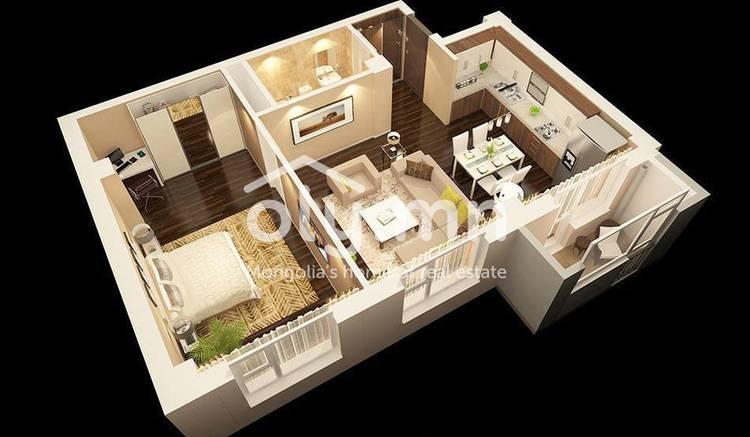 ID 675, Khoroo 3 байршилд for sale зарын residential Apartment төсөл 1