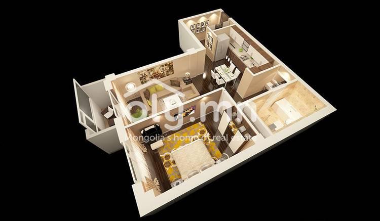 ID 684, Khoroo 3 байршилд for sale зарын residential Apartment төсөл 1