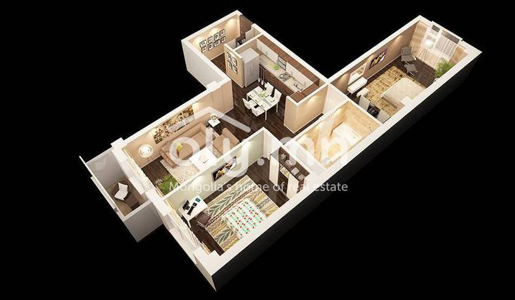 ID 688, Khoroo 3 байршилд for sale зарын residential Apartment төсөл 1