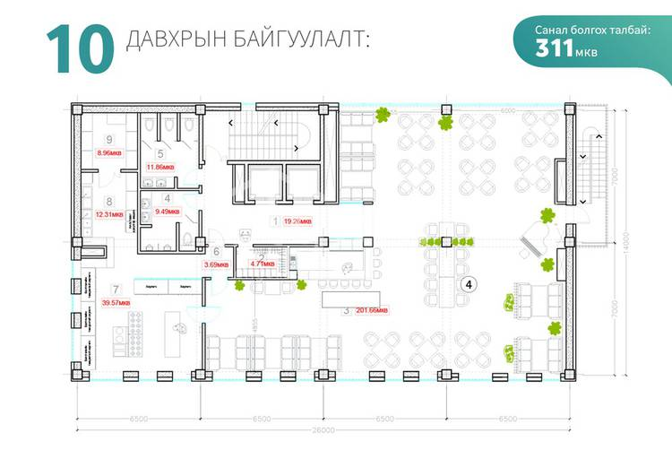 ID 776, Khoroo 3 байршилд for sale зарын commercial Offices төсөл 1