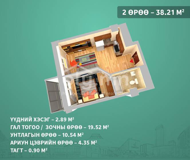 ID 1400, Khoroo 3 байршилд for sale зарын residential Apartment төсөл 1