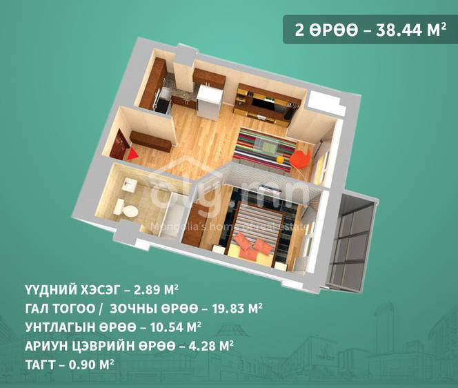 ID 1401, Khoroo 3 байршилд for sale зарын residential Apartment төсөл 1