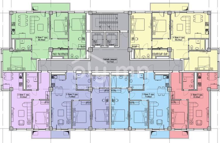 ID 1365, Khoroo 4 байршилд for sale зарын residential Apartment төсөл 1