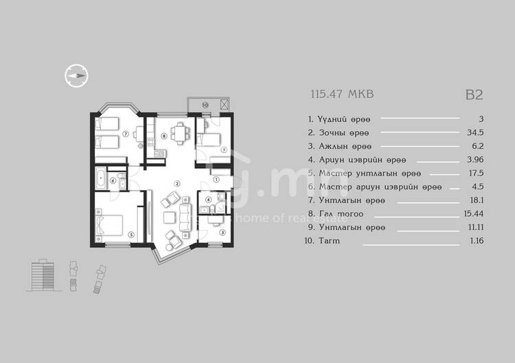ID 1377, Khoroo 4 байршилд for sale зарын residential Apartment төсөл 1