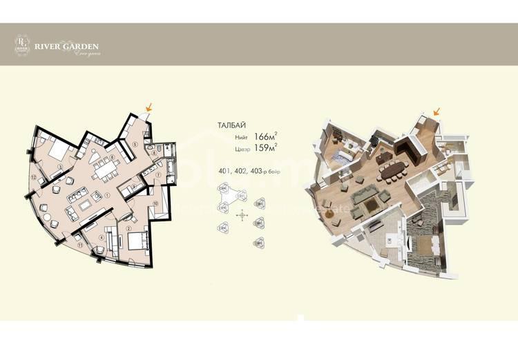 ID 162, Khoroo 11 байршилд for sale зарын residential Apartment төсөл 1