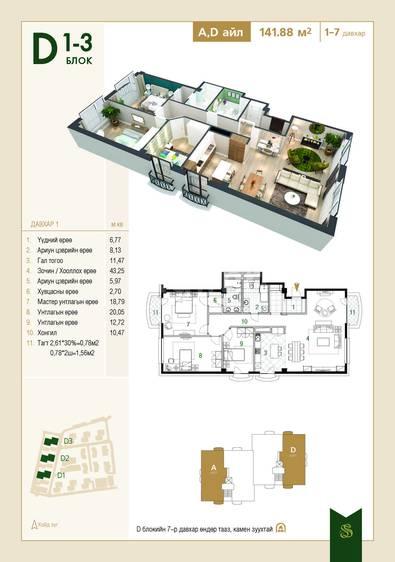 ID 1433, Khoroo 15 байршилд for sale зарын residential Apartment төсөл 1