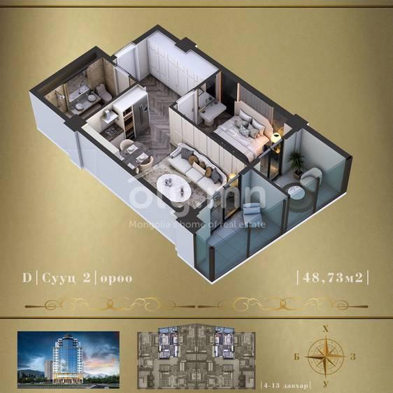 ID 1617, Khoroo 4 байршилд for sale зарын residential Apartment төсөл 1
