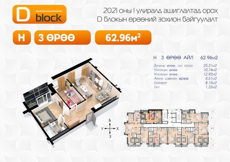 ID 1644, Khoroo 2 байршилд for sale зарын residential Apartment төсөл 1