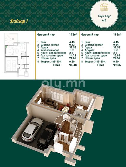 ID 1995, Khoroo 4 байршилд for rent зарын residential Apartment төсөл 1