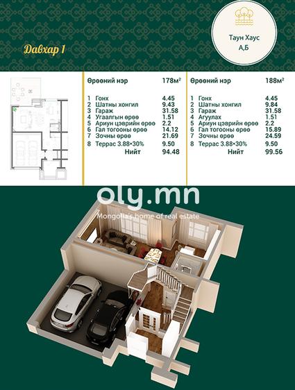 ID 1997, Khoroo 4 байршилд for rent зарын residential Apartment төсөл 1