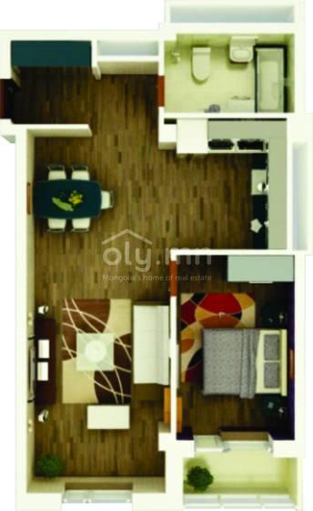 ID 1762, Khoroo 6 байршилд for sale зарын residential Apartment төсөл 1