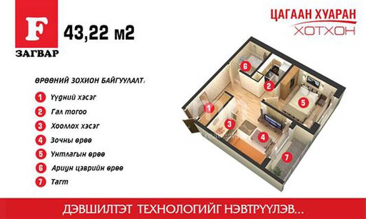 ID 1863, Khoroo 14 байршилд for sale зарын residential Apartment төсөл 1