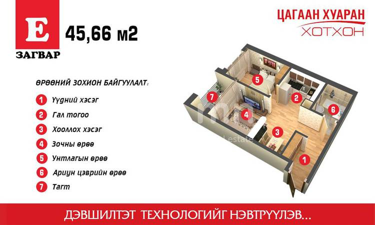 ID 1859, Khoroo 14 байршилд for sale зарын residential Apartment төсөл 1