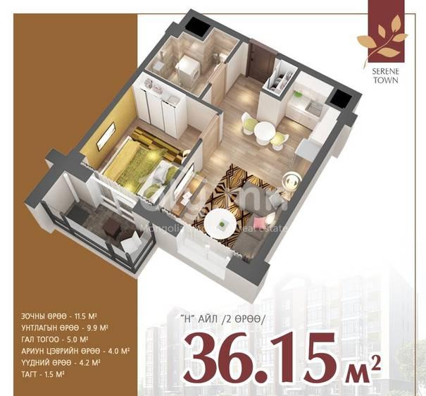 ID 2285, Khoroo 12 байршилд for sale зарын residential Apartment төсөл 1