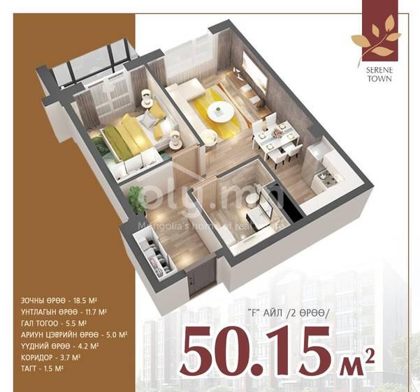 ID 2287, Khoroo 12 байршилд for sale зарын residential Apartment төсөл 1